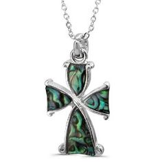 Paua (Abalone) Shell Cross Inspired Design Pendant with Rhodium Plated Chain Necklace (Jewelry) http://www.amazon.com/dp/B007GCBHAW/?tag=pindemons-20 B007GCBHAW
