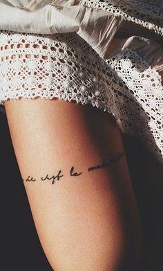 hope ur wifi dies.leg tattoo for fashion girls. #tattoo #girls #leg www.loveitsomuch.com