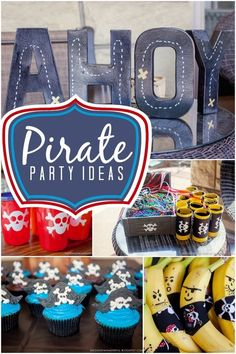 Boy's Pirate Birthday Party Ideas! Birthday Party Inspiration for party food, party games, and MORE!