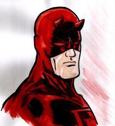 Daredevil Watercolor by nic011.deviantart.com on @DeviantArt