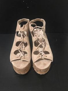4f85543d35b Nature Breeze Ladies Platform Sandals Size 6.5  fashion  clothing  shoes   accessories