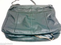 Vintage Mexican Leather Travel Bag Garment Bag in Green