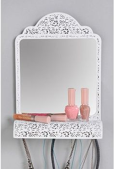 Mirror Shelf Jewelry Holder