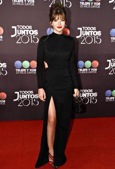 ¡Wow! La China Suárez deslumbró con diseño de Natalia Antolín y zapatos de Ricky Sarkany.  /Gerardo Viercovich