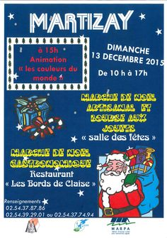 Marché de Noël, Martizay, Salle des fêtes, Dimanche 13 Décembre 2015, 10h00 > 17h00