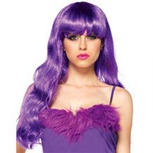 Starbright Long Wavy Purple Wig for Womens Sexy Fancy Dress Costume Wigs and Ravewear Essential Hair Accessories by Leg Avenue available to buy online in the UK for next day delivery. Star Costume, Costume Wigs, Cosplay Wigs, Costume Craze, Cosplay Costumes, Purple Wig, Neon Purple, Colored Wigs, Halloween Wigs