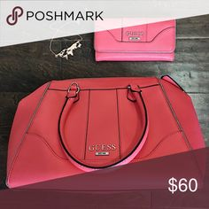Guess purse and wallet Never been used matching purse and wallet. Guess Bags Totes
