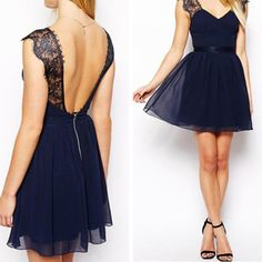 Charming Short Prom Dresses,Cute Prom Dresses,V Neck Prom Gowns,Backless Party Dresses