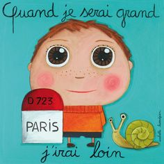 """Tableau d'Isabelle Kessedjian """"Quand je serai grand, j'irai loin"""" - Le Coin des Créateurs"""