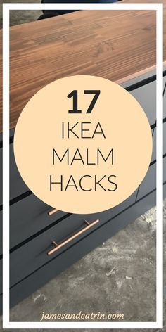 The Ikea Malm dresser is a very popular piece of furniture and lends itself perfectly to being hacked. You can create so many variations with Ikea hac Hack Commode Ikea, Ikea Dresser Hack, Diy Dresser Makeover, Furniture Makeover, Ikea Hack Bathroom, Dresser Makeovers, Ikea Furniture Hacks, Dresser Furniture, Ikea Hacks