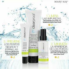 El Sistema para Cutis con Tendencia al Acné Clear Proof® cuenta con 3 productos básicos que en conjunto combaten el acné. #Amatupielparatodalavida #mymklife  Conoce más aquí: http://fw.to/8w1Bu2T