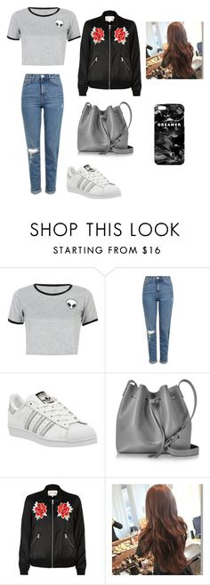 """Untitled #257"" by timcaaa on Polyvore featuring WithChic, Topshop, adidas, Lancaster, River Island and Mr. Gugu & Miss Go"
