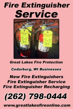 Fire Extinguisher Service Cedarburg, WI (262) 798-0444 We're Great Lakes Fire Protection. Call Today and Discover the Complete Source for all Your Fire Protection!