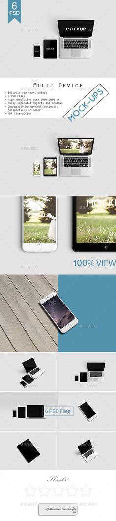 Multi Devices Responsive Website Mockup (Displays)