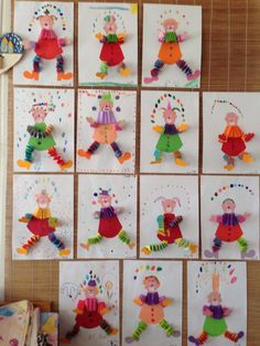 Carnival Crafts, Clown Crafts, Projects For Kids, Crafts For Kids, Spring School, Stationery Craft, Drawing For Kids, Kids Playing, Origami