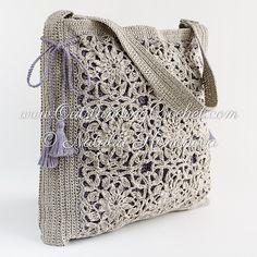 Ravelry: Flower Motifs Shoulder Bag pattern by Natalia Kononova