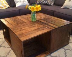 Cuatro Cajas De Vino Mesa Por Brianscrate En Etsy Wooden Crates Wood Pallets