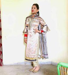 Designer Punjabi Suits, Indian Designer Wear, Sari, How To Wear, Fashion, Saree, Moda, Fashion Styles, Fashion Illustrations