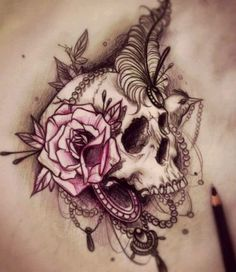 Girly skull @celina doerksen