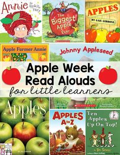 Check out these Apple Week activities for Kindergarten. Here you'll find read aloud suggestions, apple center acitivites, an apple recipe, AND a freebie! Kindergarten Lesson Plans, Kindergarten Activities, Kindergarten Classroom, Preschool Apple Activities, Preschool Apples, Kindergarten Apple Theme, Preschool Apple Theme, Daycare Curriculum, Preschool Ideas