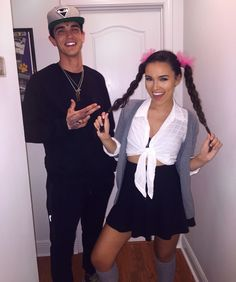 Britney Spears costume - hit me baby one more time - couples costume - kevin gates