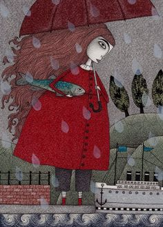 At the Harbor - Illustrations by Judith Clay <3 <3