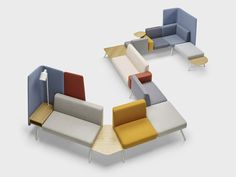 - Modularity reaches a new dimension with Palau's seating system Corals. A modular system that is easy to re-configure on site and ea Folding Furniture, Modular Furniture, Modular Sofa, Funky Furniture, Furniture Upholstery, White Furniture, Furniture Plans, Online Furniture, Furniture Design