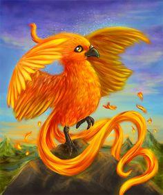 illustration for HKK (card game, www.m=hkk&cik… ) Phoenix hatchling Phoenix Painting, Phoenix Artwork, Phoenix Images, Art Drawings For Kids, Bird Drawings, Pheonix Drawing, Phoenix Tattoo Feminine, Cute Dragon Drawing, Easy Canvas Art