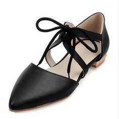 Casual Pointed Toe Flat  Shoes Fashion Mary Janes Lace Bow Ballet Flats Shoes For Women Black/Red/White Shoes Woman Sandals