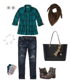 """#socute"" by nanalii on Polyvore featuring moda, Hollister Co., Aéropostale, Tommy Hilfiger, GUESS, Gucci, Bee Goddess y Juicy Couture"