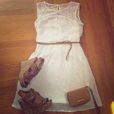 "Selling this ""White Sleeveless Dress"" in my Poshmark closet! My username is: sgmt. #shopmycloset #poshmark #fashion #shopping #style #forsale #Charlotte Russe #Dresses & Skirts"