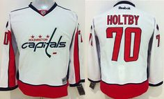 """$34.88 at """"MaryJersey""""(maryjerseyelway@gmail.com) Capitals 70 Braden Holtby White Stitched Youth NHL Jersey"""