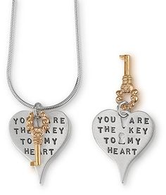 You Are The Key Necklace #hearts