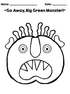 """GO AWAY, BIG GREEN MONSTER!"" - COLORING PAGES FREEBIE! - TeachersPayTeachers.com"