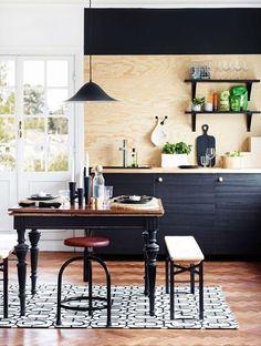 Oh-no! BOHO #3 / Never too late for 5 more décor cliches - plywood backsplash