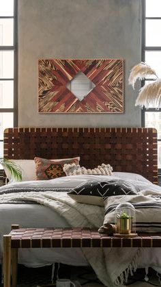 WOODMIRROR - LUCATAN II Wood Mirror, Tapestry, Bed, Furniture, Home Decor, Hanging Tapestry, Tapestries, Decoration Home, Stream Bed
