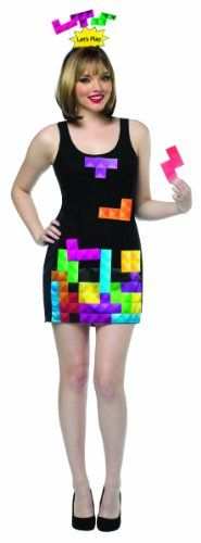 Rasta Imposta Women's Tetris Game Dress Interactive, Black/Multi,