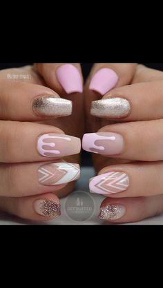 80 stylish acrylic nails for any occasion … - Nail Art Designs Nails Yellow, Pink Acrylic Nails, Glitter Nails, Gel Nails, Coffin Nails, Gold Glitter, Pink Coffin, Stiletto Nails, Drip Nails