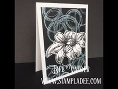 www.stampladee.com #2 Thread Sketch  Second in the Series with Deb Valder Black and White Backgrounds stamps Fun Stampers Journey stamps and ink