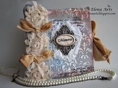"Elena Arts: Mini album ""Memories of Me"" in Mixed Media."