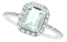 1.51ct Emerald Cut Green Amethyst Ring with Diamonds in 10Kt White Gold-6
