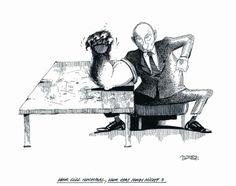 """OÖN-Karikatur vom 26. April 2014: """"Wer will noch mal, wer hat noch nicht?"""" Mehr Karikaturen auf: http://www.nachrichten.at/nachrichten/karikatur/cme1581,1046932 (Bild: Mayerhofer)"""