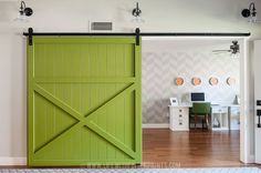 DIY Barn Door - Metal track system