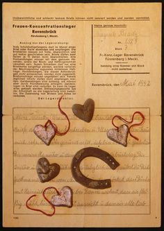 The letter and the little presents from Hana and George's mother, when she was in Ravensbrüg. She wrote the letter to Hana's Birthday