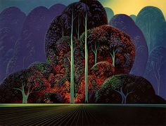 174/422	 Softening Shades of Twilight, 1993 Eyvind Earle - by style - Magic Realism