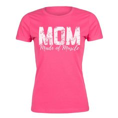 Mom Made of Muscle Ladies Fitted Tee