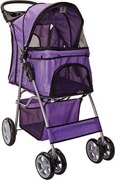 OxGord Pet Stroller Cat/Dog Easy Walk Folding Travel Carrier Carriage
