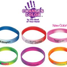 These custom mood bracelets change colour with the heat of your hand!