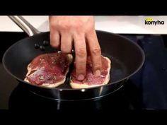 Rozé kacsa polentával - Éva Konyha - YouTube Polenta, Griddle Pan, Evo, Pork, Recipes, Youtube, Kale Stir Fry, Grill Pan