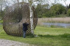 Contemporary Basketry: In Progress/ Josep Mercader & Magda Martinez Land Art, Landscape Art, Garden Sculpture, Zen, Basket, Spirit, Contemporary, Plants, Inspiration